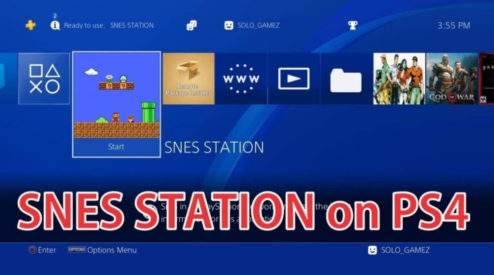 SNESStation Emulator per PS4