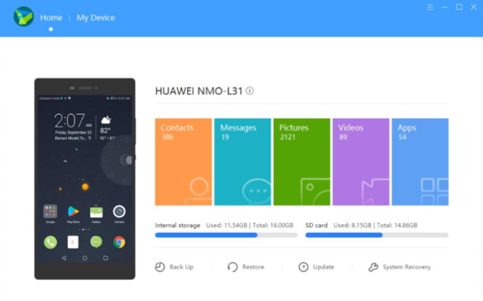 HiSuite per PC